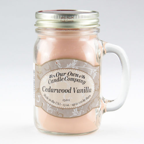 Cedarwood Vanilla Large Mason Jar