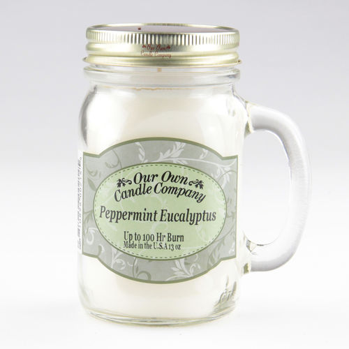 Peppermint Eucalyptus Large Mason Jar
