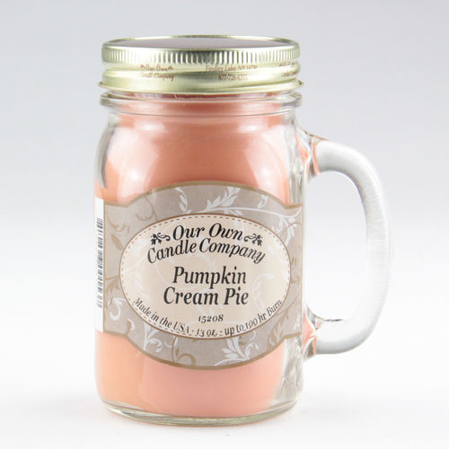 Pumpkin Cream Pie Large Mason Jar