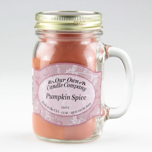 Pumpkin Spice Large Mason Jar