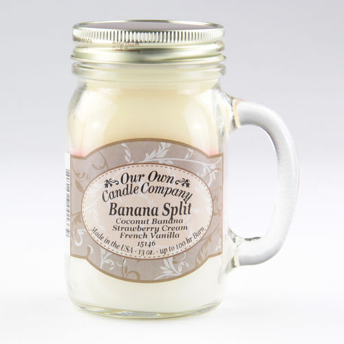 Banana Split Large Mason Jar Triple