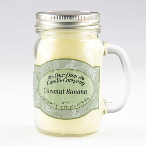 Coconut Banana Large Mason Jar
